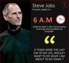 Be like Steve Jobs Life Quotes Pictures, Inspirational Quotes Pictures, Motivational Thoughts, Great Quotes, Picture Quotes, Positive Quotes, Motivational Quotes, The Words, Reality Quotes