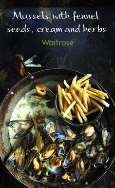 We love this recipe for mussels with fennel seeds, cream and herbs – its' even better served alongside classic French fries! Get the recipe on the Waitrose website.