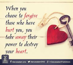 May Allah provide us strength to forgive others and provide us Sabr. Ameen..!!