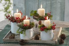 Most people have laminate parquet or a stone floor. Do you want to . - Kerzen Dekorieren - New epoxy web Christmas Advent Wreath, Christmas Candle Decorations, Christmas Planters, Advent Candles, Christmas Arrangements, Nordic Christmas, Christmas Candles, Rustic Christmas, Christmas Holidays