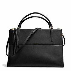 Coach - The Large Borough Bag Pebbled Li/black