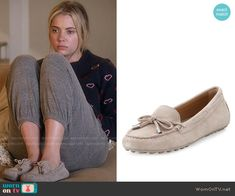 Hanna's moccasins on Pretty Little Liars. Outfit Details: https://wornontv.net/58344/ #PLL Buy them here: http://wornon.tv/36670