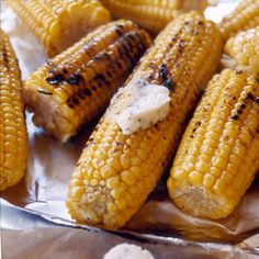 Grilled Corn with Parmesan Butter, because no July 4th party is complete without corn on the cob!