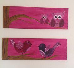 Vogeltjes en uiltjes geschilderd