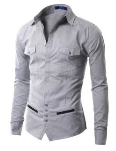 Unique Design Men Clothing | Doublju Mens Unique design Longsleeve Dress Shirts (AAK01): Amazon.co ...
