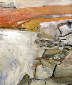 """Richard Diebenkorn """"Berkeley No. 42"""", 1955 (USA, Abstract Expressionism / Bay Area Figurative Movement, 20th cent.)"""