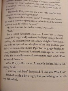 Image result for best percabeth moments in books