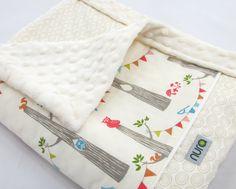 Handmade Organic Blanket  Woodland Party line by nurababy on Etsy, $68.00