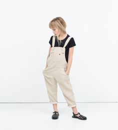 Dungarees with pockets-Jumpsuits-Dresses-Girl (3-14 years)-KIDS | ZARA Canada