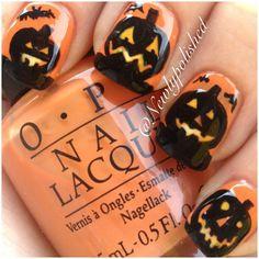 Newlypolished halloween #nail #nails #nailart