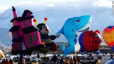 Naturally, the huge gathering attracts a diversity of balloons. This year, the festival fleet will include a snowman, a fire engine and even Darth Vader (or at least his head).