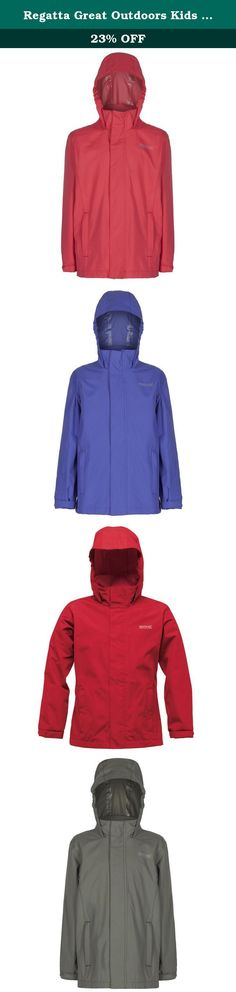 Regatta Great Outdoors Kids Outdoor Classics Greenhill Waterproof Jacket (3-4 Years) (Coral Blush). The Greenhill is our kids classic waterproof shell jacket. Its made from tough-wearing Hydrafort fabric, and all the seams are taped to make sure they are protected from the pitter, patter rain. It comes with a handy concealed hood and two secure zipped pockets for keeping bits and bobs safe. Its a brilliantly reliable wet weather coat for the school run or the weekend charge about. 100%...