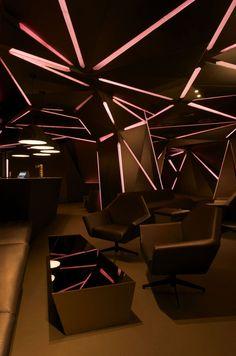 Carbon Bar by Khosla Associates service counter