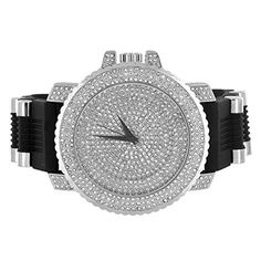 2 Tone Exclusive Iced Out Hip Hop Men Lab Diamond Gold Finish Techno Jojo Watch. Stylish Ice Crush Wristwatch. Custom Designer Limited Edition Watch; Stainless Steel Back. Trendy High Fashion Classy Mens Custom Watch. Silicon Band Men Techno Pave Designer Watch. Case Width: 59 MM; Total Length:10.5 IN.