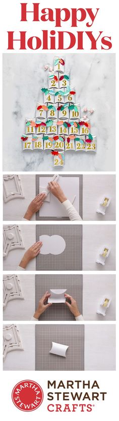 Count down to Christmas with a handmade Advent calendar. A treat-a-day idea makes the holiDIY season more merry.