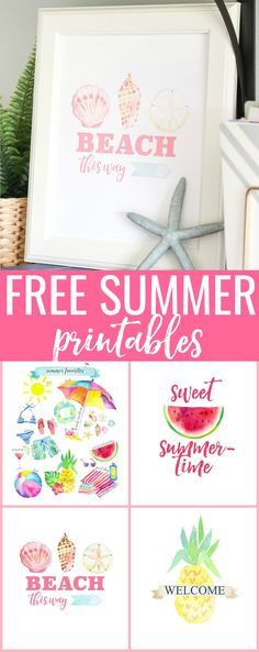 Free Summer Printables - just for you! happy decorating!!