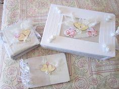 Caja con Libro de firmas y álbum de fotos para bodas. Wedding, novios, novias,  Scrapbooking,scrap,scrapbook, nupcial.