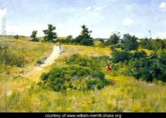 Shinnecock Landscape with Figures Painted by:	William Merritt Chase Dimensions:	83.07 inch wide x 58.27 inch high
