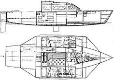 Threefold 6 plywood trimaran boat plans