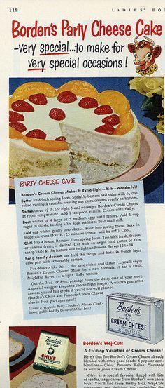 Borden's Party Cheesecake, 1951 by genibee, via Flickr