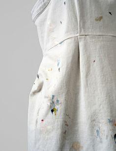 dirty white denim tippet dress #SHOPBIRD15 #SS14