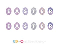 DIY Easter Egg Bunting Decoration! (#Free #Printable) — The Queen of Swag!