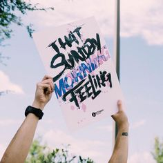 That Sunday Morning Feeling | greeter sign design inspiration from @bethanycreative #prochurchmedia
