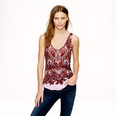 Cate cami in iced lilac paisley - A Very Secret Pinterest Sale: 25% off any order at jcrew.com for 48 hours with code SECRET