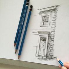 #art #drawing #pencil #sketch #illustration #house #architecture