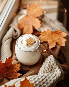 am i a trick or treat? Autumn Coffee, Autumn Cozy, Autumn Trees, Autumn Leaves, Autumn Rain, Coffee Photography, Autumn Photography, Coffee Break, Coffee Time