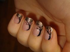 Tree manicure. Makes me wish I put more effort into my nails. Or any effort at all.