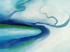 Blue & Green - Georgia O'Keeffe American... - Cozyhuarique