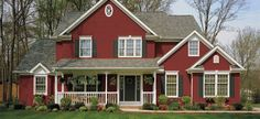 Grey home with burgundy shutters lauren 39 s exterior house for Norman rockwell siding