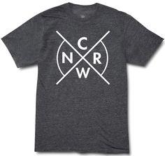 CRWN Cross - Charcoal/White