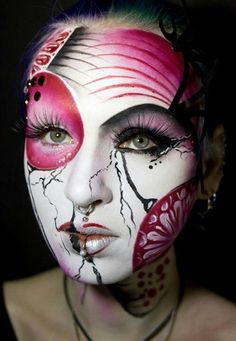 Awesome Halloween makeup! Would love to do something close to this ...