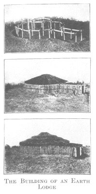 Houses of the Omaha Indians were chiefly lodges of earth or, more rarely, of bark or mats, and skin lodges or tents