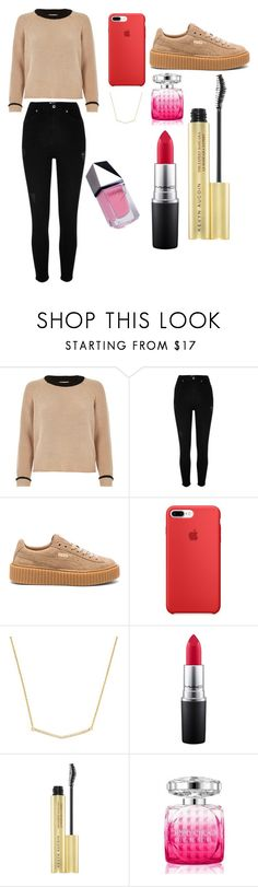 """""""Sans titre #1218"""" by merveille67120 ❤ liked on Polyvore featuring River Island, Puma, MAC Cosmetics, Jimmy Choo and GUiSHEM"""