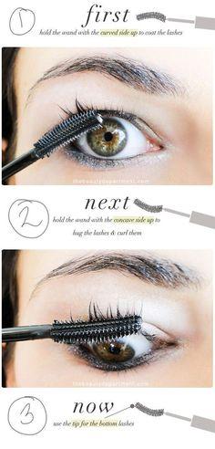865562ef0f6 HOW TO USE A CURLING MASCARA PROPERLY #MascaraForShortLashes Mascara Brush,  Mascara Tips, Applying