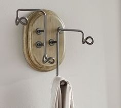 Cast Metal Standing Coat Rack