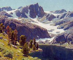 Edgar Payne - Sierra Lake, 1921