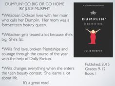 Young Adult Reading Machine: Dumplin': Go Big or Go Home by Julie Murphy