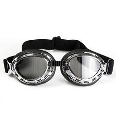 7512764697 Antiguo Motocicleta Bicicleta Equitación Gafas Eye Wear Proteger Gafas  Oscuro Lente Workplace Safety, Motorcycle Bike