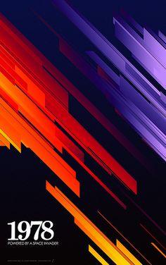 1978 - Retro Stripes by Simon C. Page / Simon Page / Simon C Page / Page / SC Page / S.C. Page / simoncpage / simonpage - poster - graphic design