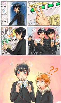 "Double milk, double fun  || Credits to the artist || Tobio ""Milky Boy"" Kageyama"