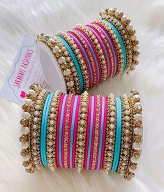 Bridal Jewelry Vintage, Indian Wedding Jewelry, Indian Bridal, Fancy Jewellery, Diamond Jewellery, Bangle Ceremony, Silk Thread Bangles Design, Bridal Bangles, Jewelry Design Earrings