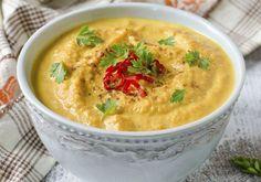 A padlizsánkrém kistestvére Vegan Vegetarian, Vegetarian Recipes, Healthy Recipes, Healthy Foods, Hummus Dip, Cheeseburger Chowder, Thai Red Curry, Zucchini, Bacon