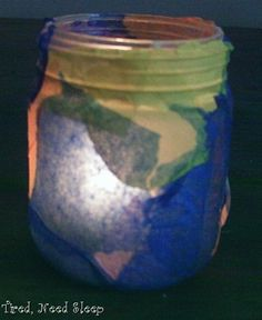 """""""Light of the world"""" decoupage candle craft.. This is really cute!!!!! :) Saul sees the light? #2013"""