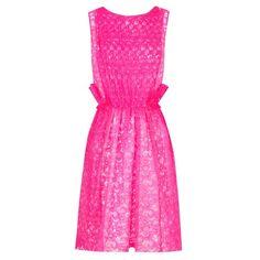 Vestido rosa fluor de MSGM