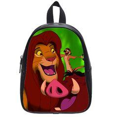 PU Backpack School Bag Travel Bag Lion