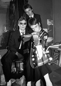 The mighty trio of Paul Weller, Bruce Foxton and Rick Buckler, The Jam in 1977, taken by Ian Dickson